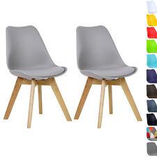 Esszimmerstühle 2 x Esszimmerstuhl Design Stuhl Küchenstuhl Holz Grau BH29gr-2