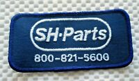 """SH PARTS EMBROIDERED SEW ON PATCH ADVERTISING BADGE HAT JACKET 4"""" x 2"""""""