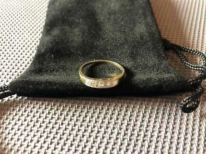 Art-Deco Diamantring mit Altschliffdiamanten 585 Gelbgold Gr. 18 mm / 56