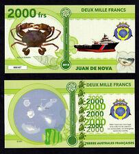 ★★★ ILE JUAN DE NOVA ● TAAF ● BILLET POLYMER 2000 FRANCS ★★★ COLONIE FRANCAISE