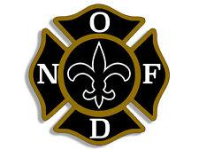 4x4 inch Maltese Shaped NOFD New Orleans Fire Dept Sticker - logo firefighter la