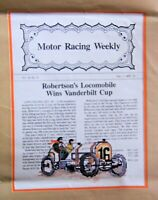 "Candamar Designs  Counted  Cross Stitch Kit ""Motor Racing Weekly"" 12"" X 16"""