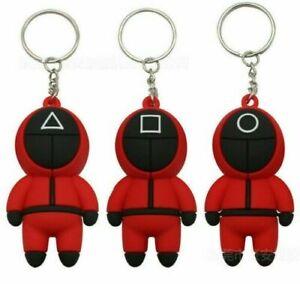 1 Squid Game Vinyl Figure Toy Keyring Soldier Phone Chain Mini Doll Bag Pendant