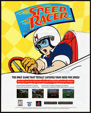 SPEED RACER__Original 1998 Trade Print AD/ poster_game promo__PlayStation_Jaleco