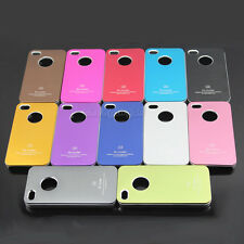 New Ultrathin Matte Metal Aluminum Back Skin Case Cover for Apple iPhone 4 4S