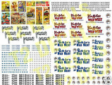 HO Scale Tim McCoy Circus Wagon Decals- HUGE 8.5 X 11 SHEET