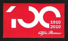 Alfa Romeo 100 Years Sticker, 1910-2010 Vintage Sports Car Racing Decal
