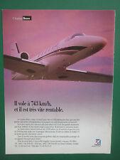 6/1998 PUB AVION CESSNA CITATION BRAVO AIRCRAFT FLUGZEUG ORIGINAL FRENCH AD