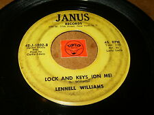 LENNELL WILLIAMS - LOCK AND KEYS  - ROCKET IN MOTION / LISTEN - RNB SOUL POPCORN