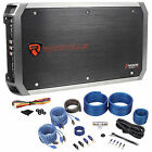 Rockville RXA-F2 2400 Watt Peak/1200w RMS 4 Channel Car Stereo Amplifier+Amp Kit
