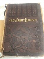 Antique The Swiss Family Robinson John Lovell New York Cassell Publishing Book