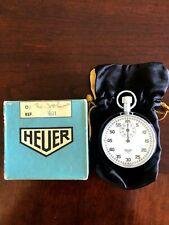 Vintage Heuer Stop Watch Stopwatch Works Excellent Condition