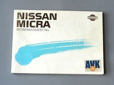Betriebsanleitung Bedienungsanleitung Ausgabe 1988, Nissan Micra I, K10