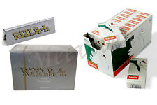 NEW 1200 RIZLA SILVER ROLLING PAPERS + 1200 SWAN MENTHOL EXTRA SLIM FILTER TIPS