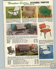 1963 PAPER AD Douglas Eaton Occasional Casual Furniture Lounge Chair Cloverleaf