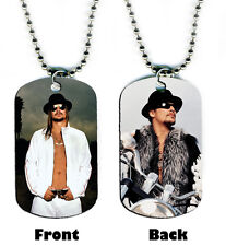 DOG TAG NECKLACE -  Kid Rock 1 Rap Pop Singer jewelry bead chain