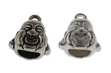 10pcs Craft Stopper Beads Human Face Shape End Cap Fit 6.5*4mm Leather Cord Shop