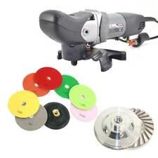 "Wet Grinder Polisher, Dust Shroud, Cup Wheel, 8 pc 5"" Diamond Polishing Pad Set"