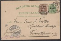 South Africa - Transvaal 1906 Arms ½d postal card during the Second Boer War