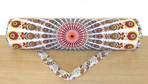 Mandala Cotton New Portable Sports Yoga Mat Bag With Adjustable Shoulder Strap