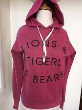 Cotton on hoodie sz XS LIONS TIGERS & BEARS print