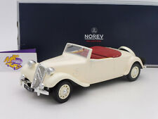 "Norev 181440 # Citroen Traction Avant Cabrio 11B Bj. 1939 "" cremeweiß "" 1:18 NEU"