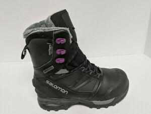Salomon Toundra PRO Snow Boots, Black, Women's 6 M