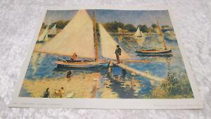 """Ancienne Lithographie A. RENOIR """" La Seine à Argenteuil """" Edition Braun & Cie"""