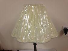 Retro Vintage Lampshade Pale Lemon High quality Taffeta Lotus Shape. Fully Lined