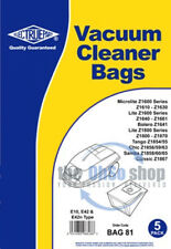 5 x ELECTROLUX Vacuum Cleaner Bags E10, E42 & E42n Type - Chic Z1856, Z1859