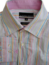 Austin Reed Cotton Striped Single Cuff Formal Shirts for Men