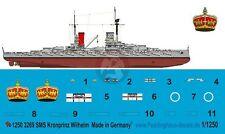 Peddinghaus 1/1250 SMS Kronprinz Wilhelm German Battleship WWI Markings 3269