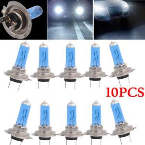 10Pcs H7 12V 55W Xenon White 6000K Halogen Car Headlights Lamps Bulbs Parts