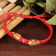 Feng Shui Red String Lucky Twin Fish Charm Bracelet for Good Luck Wealth & Love