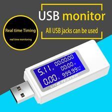 4-30V USB Safety Security Tester LED Digital Voltmeter Ammeter Meter Four Core
