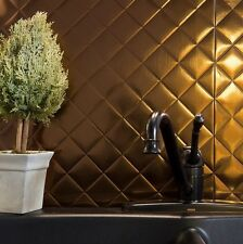 Kitchen Backsplash Decorative Vinyl Panel Wall Tiles Bathroom Bronze Plastic