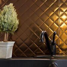Kitchen Backsplash Decorative Vinyl Panel Wall Tiles Bathroom Bronze Plastic