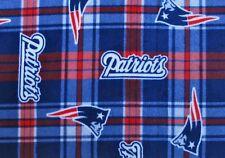 2-NFL NEW ENGLAND PATRIOTS STANDARD FLEECE PILLOW CASES/BLUE FLEECE BACK 19X25