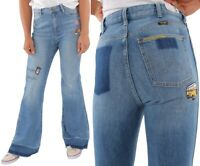 Wrangler Damen Jeanshose Retro Flare Cochella Blau Glockenhosen W25 - W31
