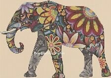 Pop Art Elephant Counted Cross Stitch COMPLETE KIT #7-365/2