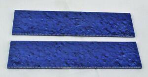 "KIRINITE ARCTIC BLUE ICE 1/8"" Scales for Knife Making Woodworking Bushcraft"
