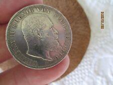 German  Empire ,Germany,Wuerttemberg, silver coin 3(DREI) mark,1910,VF+