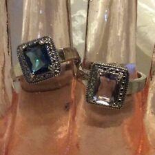 JewelScent Ring Size 7, Emerald Cut, Rhodium Plated Brass, SG46