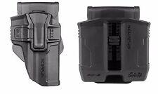 Jericho full frame 9mm /.40 Steel OWB Level 1/2 Polymer Holster & Magazine Pouch