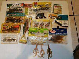 Lot Of rubber fishing lures