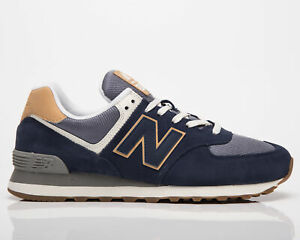 New Balance 574 Men's Natural Indigo Casual Athletic Lifestyle Sneakers Shoes