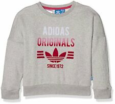 Adidas Originals Niñas Crew sudadera juvenil Junior Polar Top-S96062
