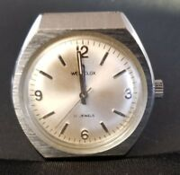 Vintage Silver Tone round WESTCLOX 17 jewels Antimagnetic watch
