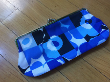Marimekko Blue Mini Unikko pencil glasses purse bag Maija Isola  Finland 100