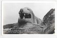 RPPC Real Photo Postcard Monster at Desert View Tower Jacumba California CA